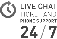 LIVE CHAT TICKET AND PHONE SUPPORT 24/7